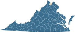 Map of Clarke County